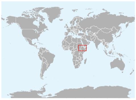 Ethiopian wolf canids ethiopian wolf range map gumiabroncs Choice Image